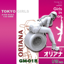 1/35 Resin kits Tokyo Beauty Girl Soldier Series (50mm)A-038