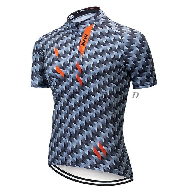 Verão 2019 NOVA NW Ciclismo Jerseys de Manga Curta Camisas Men Roupas Bicicleta Maillot Ropa ciclismo Bicicleta de Corrida de Roupas Sportwear