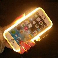 2017 Fashion Light Flash Luminous Phone Case For Night Party Cool Selfie LED Light Phone Case