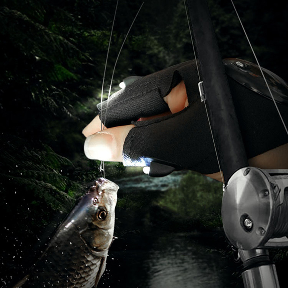 Купить с кэшбэком Novelty LED Flashlight LED Glove light Finger light Battery included Used for night fishing, camping, repairs,Adventure,etc.