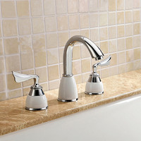 Factory Direct High Quality Brand Original Unique Patent Design Brass Chrome 3 Hole Bathtub Faucet Bath