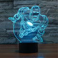USB Acrylic Colorful Superman Nightlight Household Bedroom Office LED Table Lamp Child Girl Christmas Gift -65