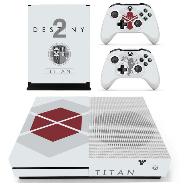 Game Destiny 2 Skin Sticker For Microsoft Xbox One S Console and 2  Controllers For Xbox One S Skin Sticker