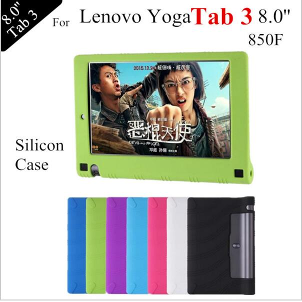 For Lenovo 2016 YOGA Tab 3 8.0 case For yoga3 850F tablet Silicone TPU Soft Back Case Cover Protective shell skin new original for lenovo thinkpad x230t x230 tablet x230it x230i tablet back shell bottom case base cover 04y2090