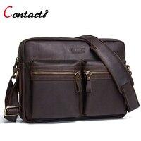 Contact S Genuine Leather Bag Men Messenger Bag Men Bag Male Leather Handbag Men Shoulder Bag