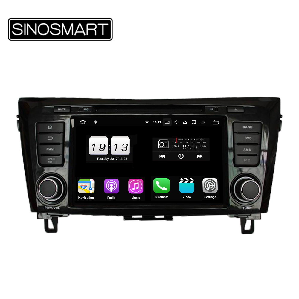 SINOSMART Android 9.0 4G RAM 8 core CPU Car DVD GPS Player for Nissan Qashqai/X-Trail 2013 2014 2015 2016 2017 2018 image