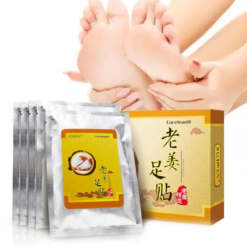 1 Box Ginger Feet Paste Improve Sleep Foot Sticker Health Care Chinese Medicine Foot Detox Patches Boost Body Immunity W3