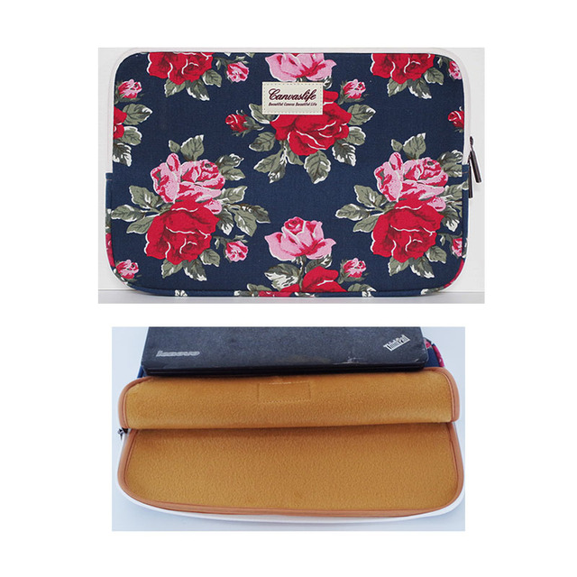 """New Canvas Elephant Design  13.3"""" 14""""15.6"""" Laptop case ultrabook Sleeve Soft PC Notebook Bag Cover for macbook hp sony"""