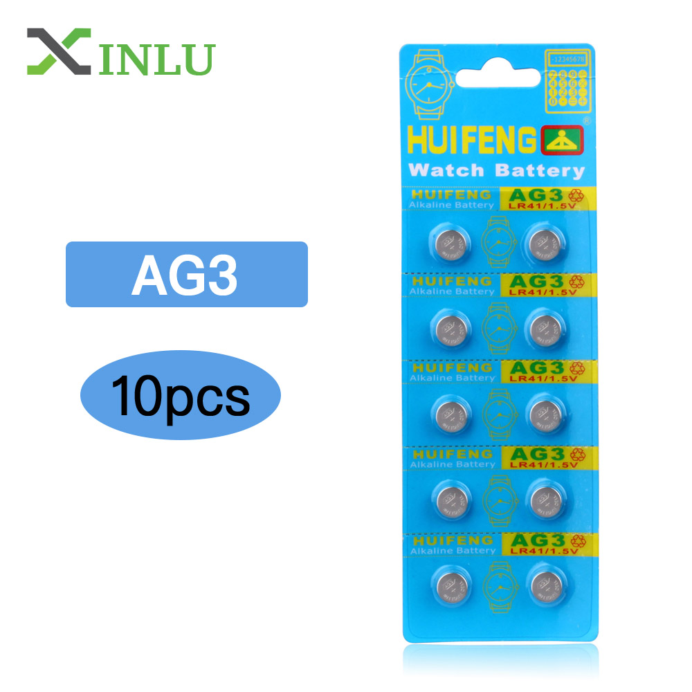 10pcs AG3 Battery LR41 Lr 41 1.5V L736 392A 392 384 SR41SW CX41 192 Button Cell Battery For Toys Car Key Watch Batteries LR 41