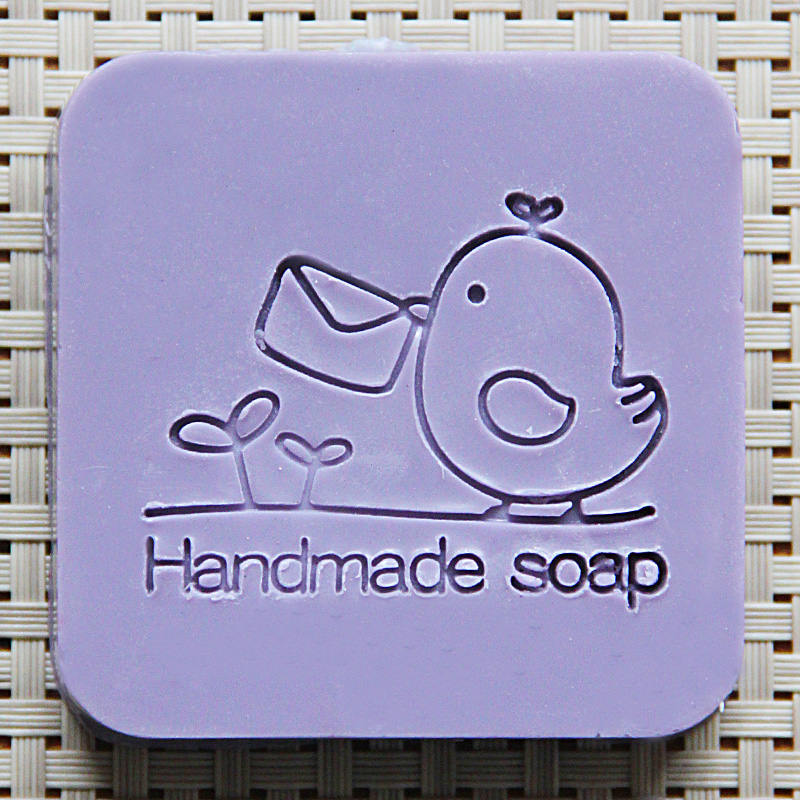 цены  2016 free shipping natural handmade acrylic soap seal stamp mold chapter mini diy courier patterns organic glass 5X5cm 0128