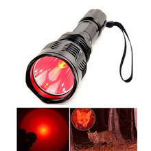 цена на X.YSHINE LED Hunting Flashlight Cree Q5 Red Light Zoom In Flashlight Torches with Remote Tactical Pressure Switch for Hunting