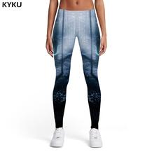 KYKU Brand Wolf Leggings Women Animal Sexy Forest Sport Lightning Ladies Spandex Womens Leggings Pants Casual Fashion Summer