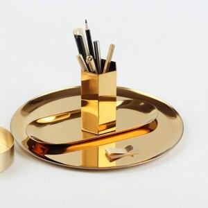 Image 4 - (ET) plate de papelería simplicidad del viajero. Electrochapado de acero inoxidable dorado. Muy bonito retro la disposición de tb