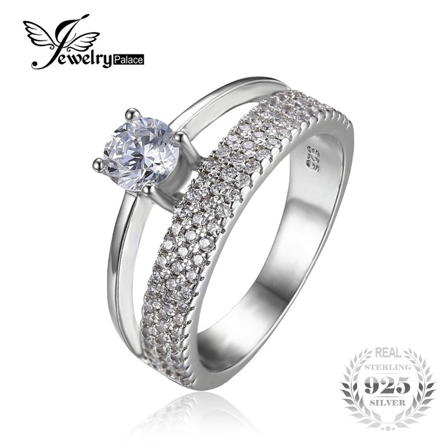 jewelrypalace fashion 09ct anniversary wedding band engagement ring guard enhancer 925 sterling silver for women - Wedding Ring Guard