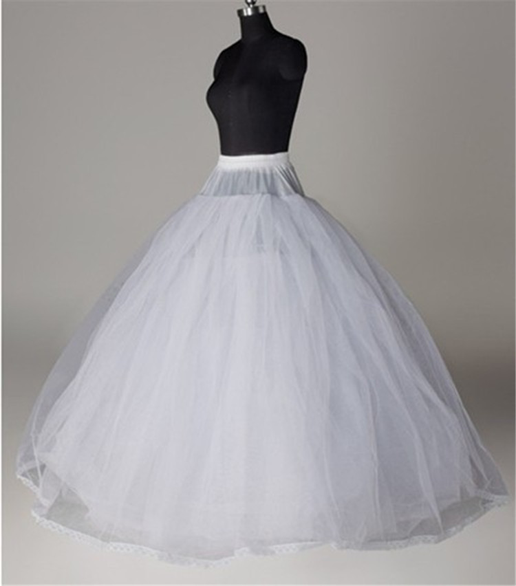 High Quality White Wedding Petticoats 8-Layers Bridal Ball Gown Underskirt Hoopless Crinoline For Women Bride Wedding Dress