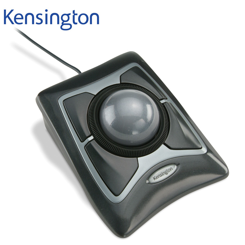 Kensington Original Trackball Expert Mouse Optical USB for PC or Laptop Large Ball Scroll Ring with