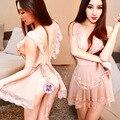 2015 de la Alta Calidad A Estrenar Intimates Pijama Rosa Sexy ropa de Dormir de encaje de la ropa interior para Dormir y Descansar de las mujeres ropa de hogar H071