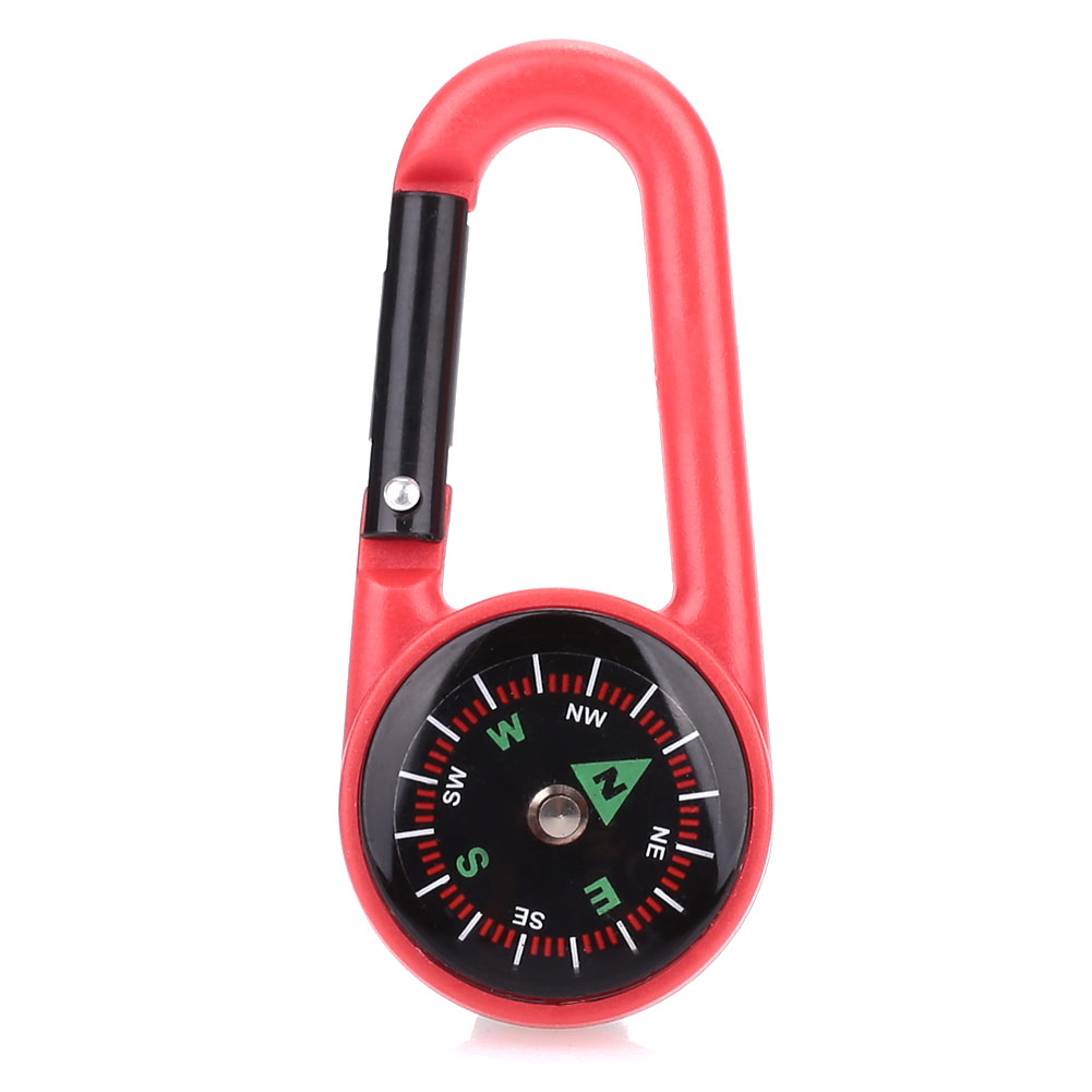 2 цвета компас навесной компас висячий портативный Карабин Крюк походный рюкзак альпинистская пластиковая прочная подвесная пряжка - Цвет: red