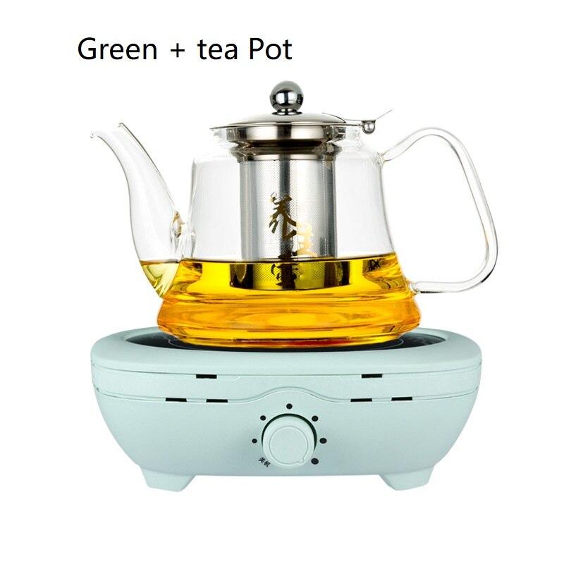 Mini estufa eléctrica de cerámica de 50 60hz AC220 240V para hervir té, calentar café, Cocina eléctrica de 800 w, calentador de café con tetera - 5