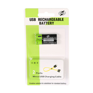 Image 4 - ZNTER 4 pièces AAA Batterie 400 mAh AAA 1.5 V Jouets télécommande piles avec Micro USB Batterie Rechargeable