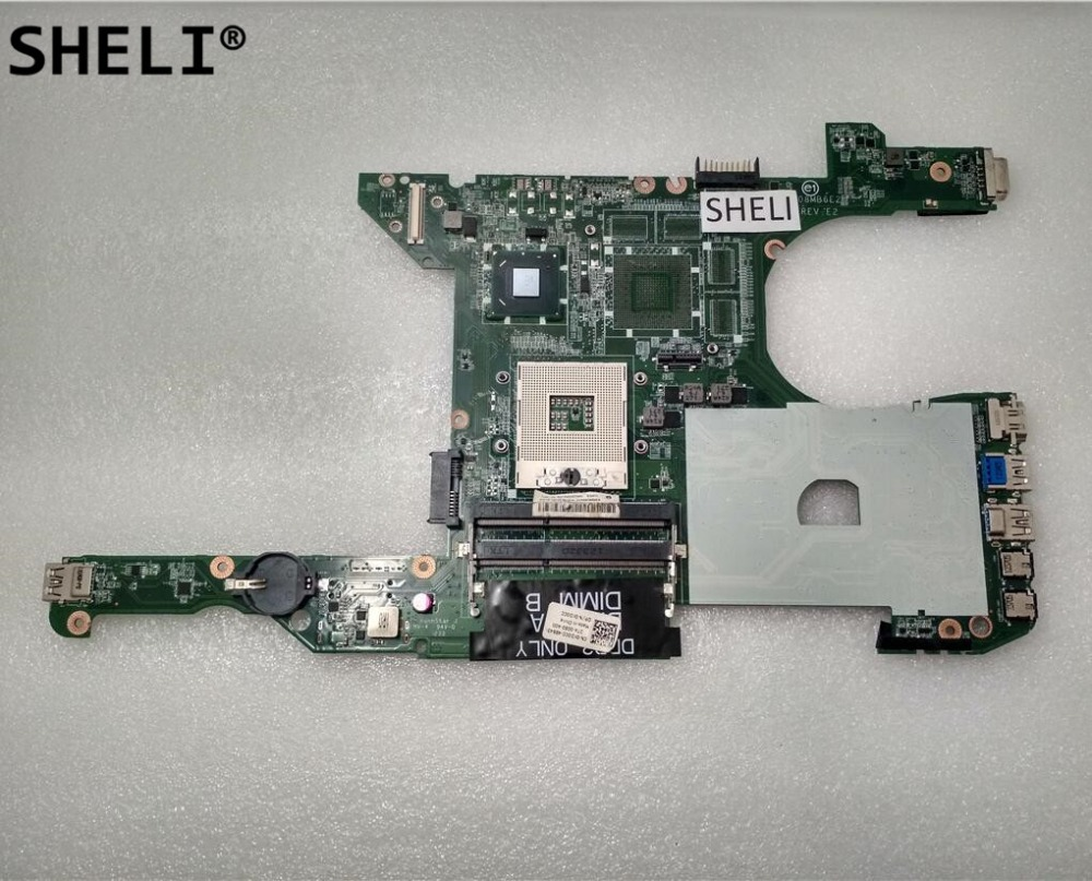 SHELI For Dell 5420 Motherboard Integrated DA0R08MB6E4 KD0CC 0KD0CC CN-0KD0CC integrated laptop heatsink for dell 14r 5420 7420 m421r 5425 4ar08hswi60 dp n 3kygx