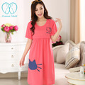 922# Sweet Nursing Nightgown for Maternity Women Mother Cute Lovely Breastfeeding Sleepwear Summer Cotton Breastfeeding Dress