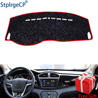 Latest Rose Pattern Non slip Car Dashboard Cover Dash Mat Pad DashMat ANti UV Car Sticker for MG GS 2015 2016 Car Styling