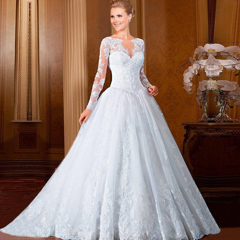 Wedding Gowns Ball Gown Vestidos De Noiva 2017 Western Style Long