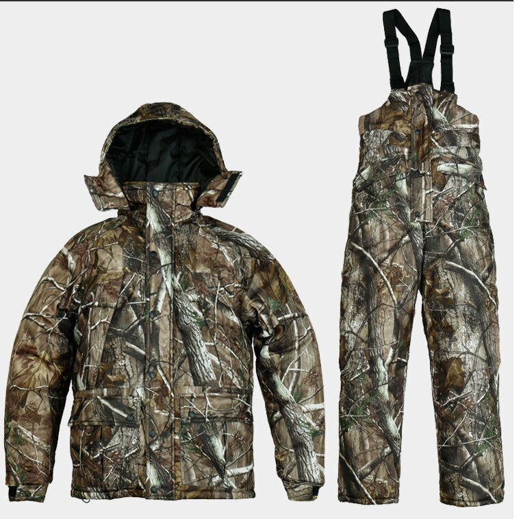 REMINGTON meadow bionic camouflage uniforms men's winter fishing hunting waterproof breathable camouflage jacket + pants suits