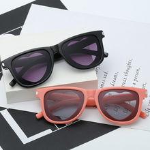 126ad4866e Vintage Ojo de gato, diseñador de marca, gafas de sol para mujer en forma  de corazón, lente claro tendencia leopardo negro gótic.