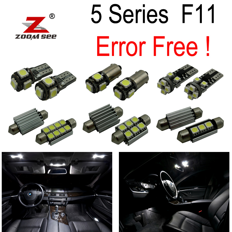 26pcs Error free for BMW 5 series F11 Touring Wagon 520d 525d 530d 535d 528i 530i 535i 550i LED bulb Interior Light Kit (2011+) brand new for bmw e61 air suspension spring bag touring wagon 525i 528i 530i 535i 545i 37126765602 37126765603 2003 2010