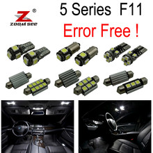 Kit d'ampoules intérieures LED sans erreur, 21 pièces, pour BMW série 5 F11 Touring Wagon 520d 525d 530d 535d 528i 530i 535i 550i (2011 +)