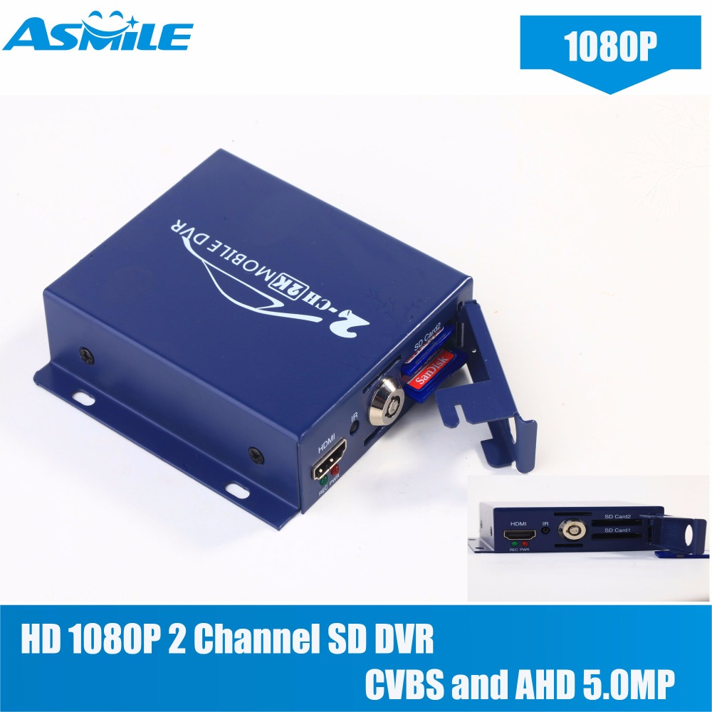 2018 hot sale Newest 2CH Mini Mobile DVR and Remote Control Realtime with with CVBS and