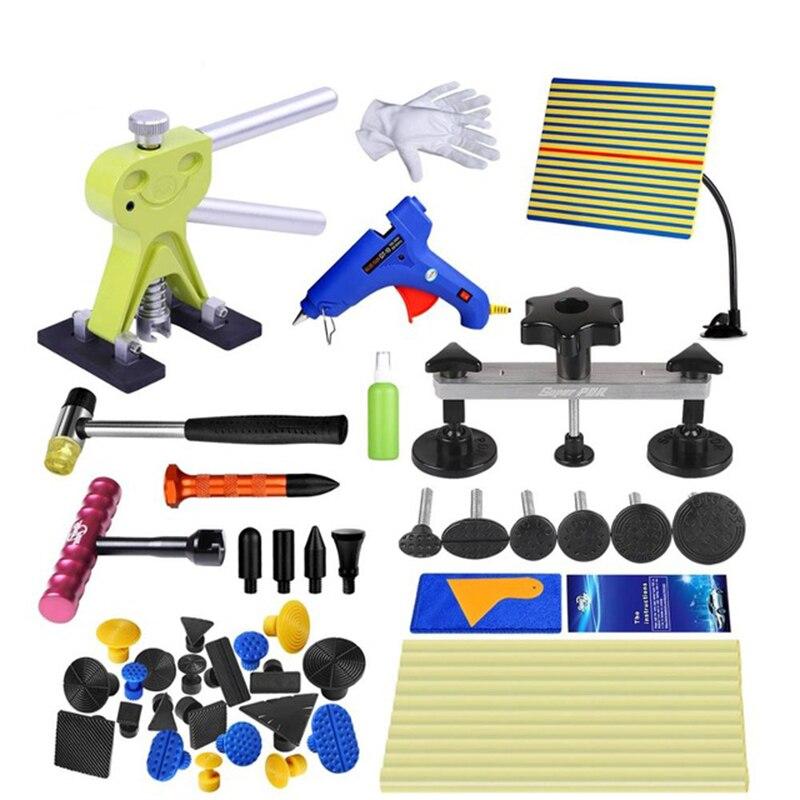 Kit d'outils GLCC PDR pour outils de réparation de Dent de voiture Auto bâtons de colle thermofusible pour pistolet à colle thermique extracteur de Dent ensemble de ligne de ventouse