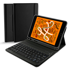 For iPad Mini 2019 Case Spanish English French Germany Bluetooth Keyboard Leather 5 7.9 Flip Stand