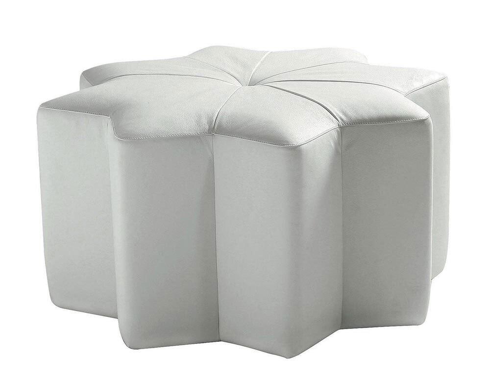Design unique poste style moderne haut de gamme vache véritable cuir pouf/tabouret salon meubles de maison forme octogonale
