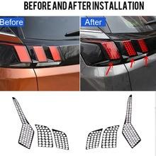 Для peugeot 3008/2016 GT 2017 3008 2018 Авто интимные аксессуары сзади хвост свет лампы соты протектор Стикеры 1 компл.