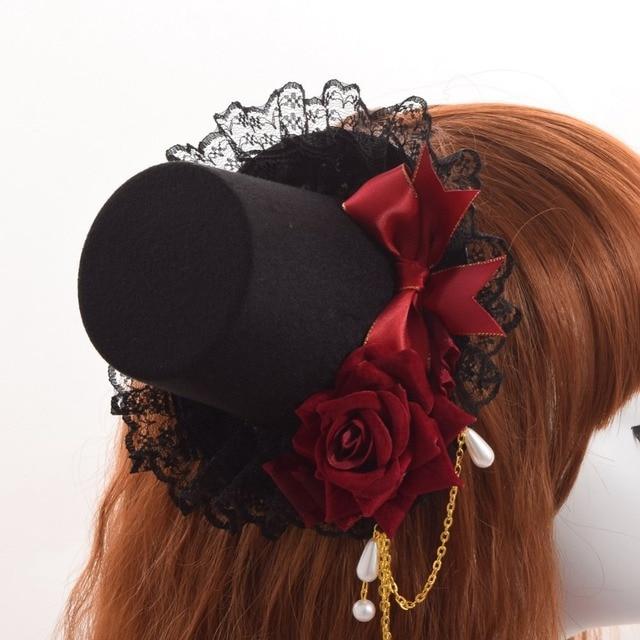 Шляпка готическая лолита 2