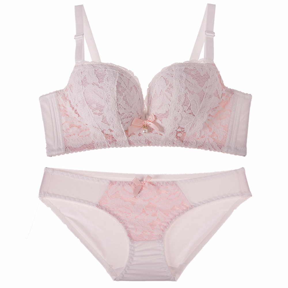 Hot-selling Lace Sexy Push up Bra Underwear Vintage Solid Color Bra Set 2018 Comfortable Transparent Sexy Lingerie Women Bra