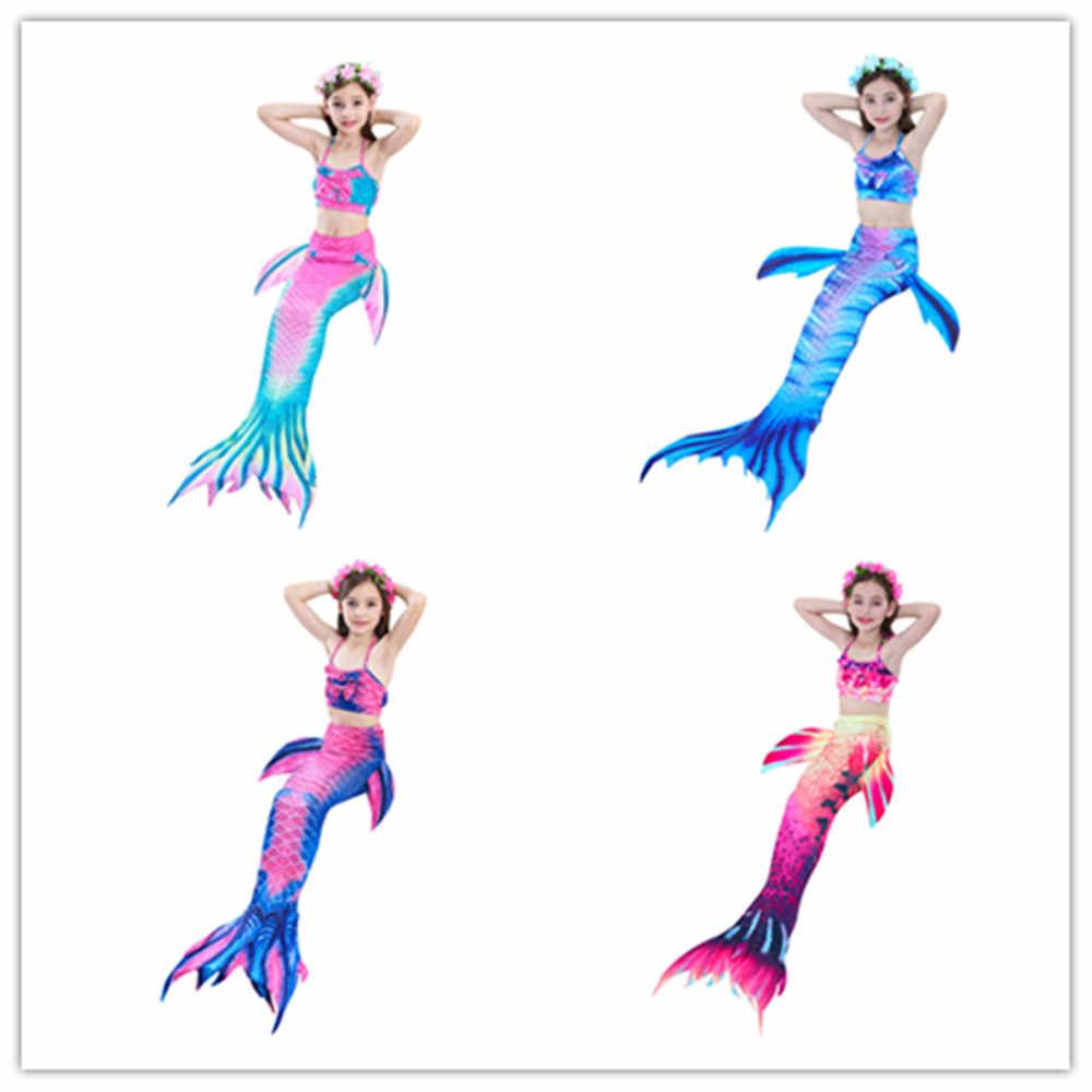 2019 เด็ก Mermaid Tail สำหรับว่ายน้ำชุดบิกินี่เด็กหญิงคอสเพลย์เครื่องแต่งกายว่ายน้ำ Mermaid Tail ชุดว่ายน้ำ Zeemeerminstaart