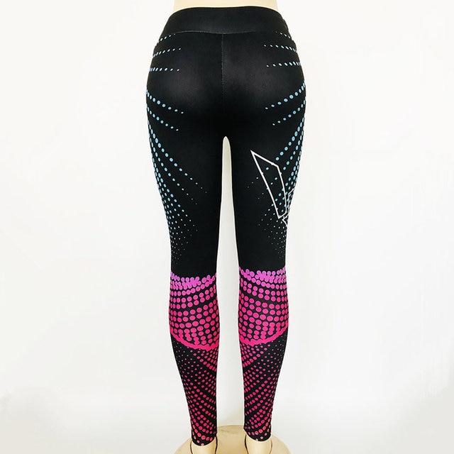 Women Yoga Pants 3D Print Compression Elasticity Fitness Sports Leggings 6