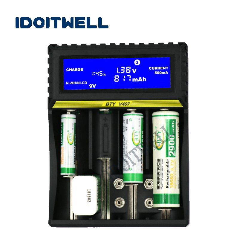 Universal fast NiMH 18650 battery charger LCD AA AAA battery charger 6F22 9V charger DIY power bank 26650 charger box with USB universal ac charger for aa aaa 6f22 18650 battery ac 100 240v us plug