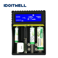 Universal fast NiMH 18650 battery charger LCD AA AAA battery charger 6F22 9V charger DIY power bank 26650 charger box with USB