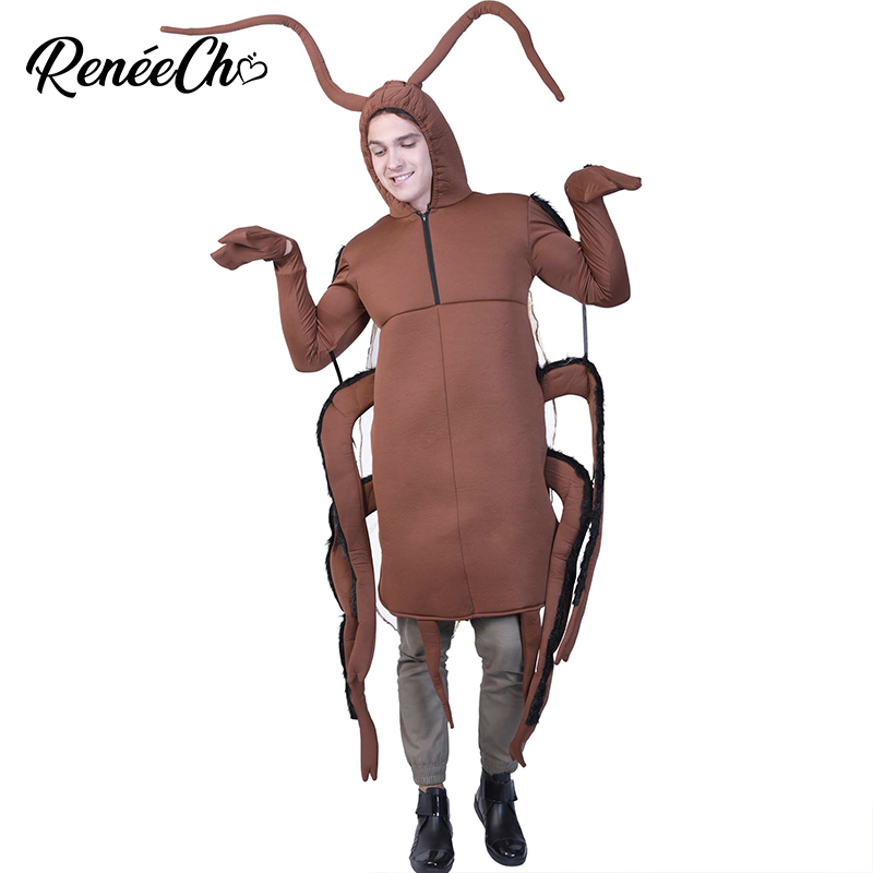 Halloween costume men Adult Cockroach Costume 2018 Fantasia Funny adult cosplay for Animal insect Christmas Carnival party