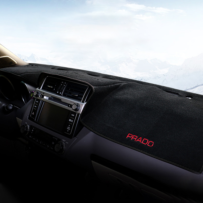 Car Dashboard Dash Mat DashMat Anti-sun Dash Pad Cover LHD For <font><b>Toyota</b></font> Land Cruiser <font><b>Prado</b></font> FJ150 150 2010-2018 <font><b>2019</b></font> <font><b>Accessories</b></font> image
