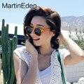 2017 de corea del retro ronda gafas de sol hombres mujeres marca diseñador amarillo blanco vintage shades gafas de sol para mujer femenina transparente