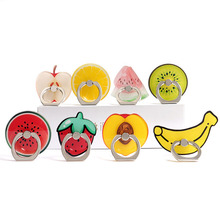 Finger Ring Summer Fruit Cactus Mobile Phone Stand Holder Lemon watermelon Smartphone For iphone Huawei All phone