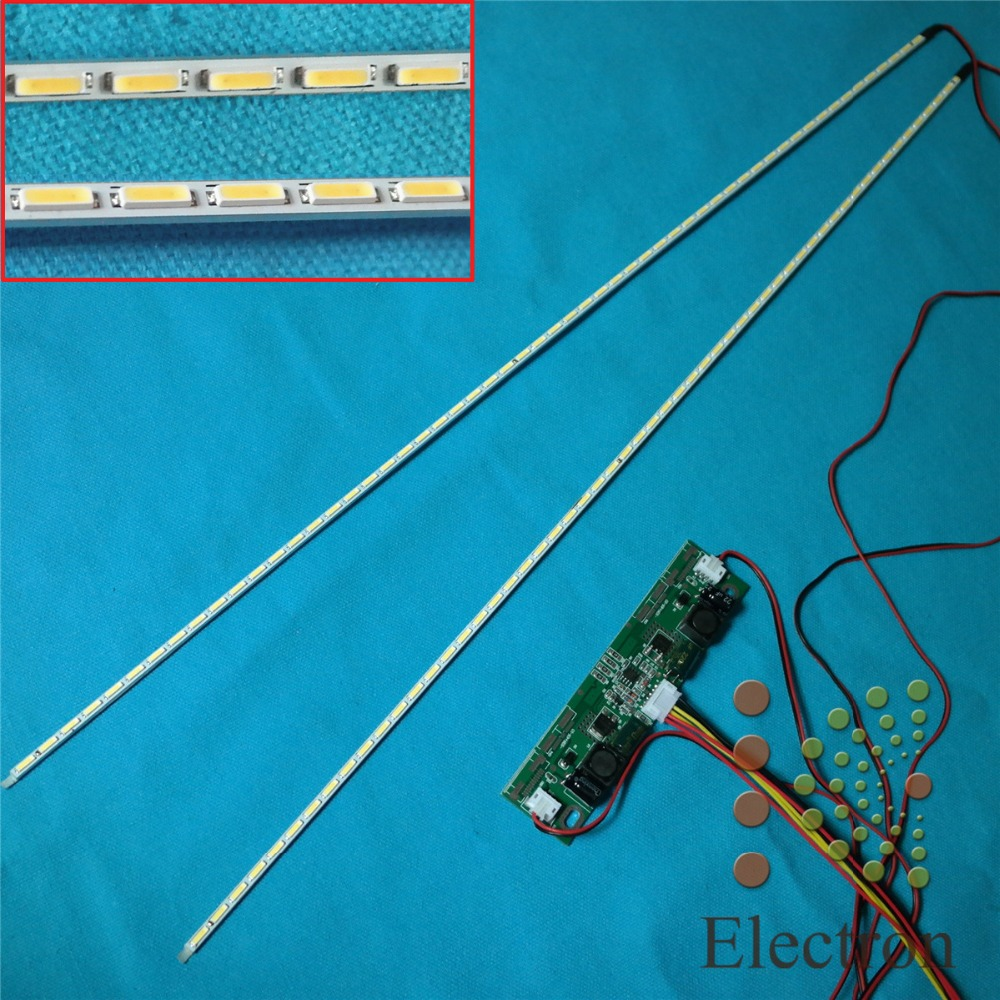 цена на 724mm LED Backlight Lamps strip Update Kit Aluminum plate w/ 26''-65'' inverter For 65 inch LCD Monitor TV Panel High light