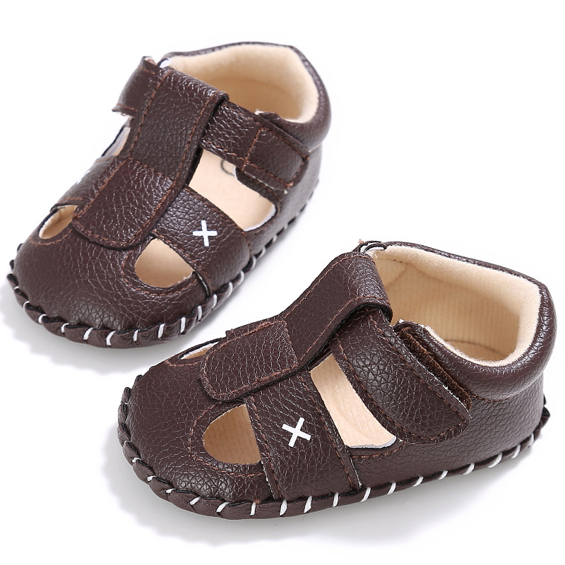 2017 fashion newborn First Walkers baby boy and girl summer 0-1 year-old half-rubber anti-skid baby shoes Non-slip toddler shoes