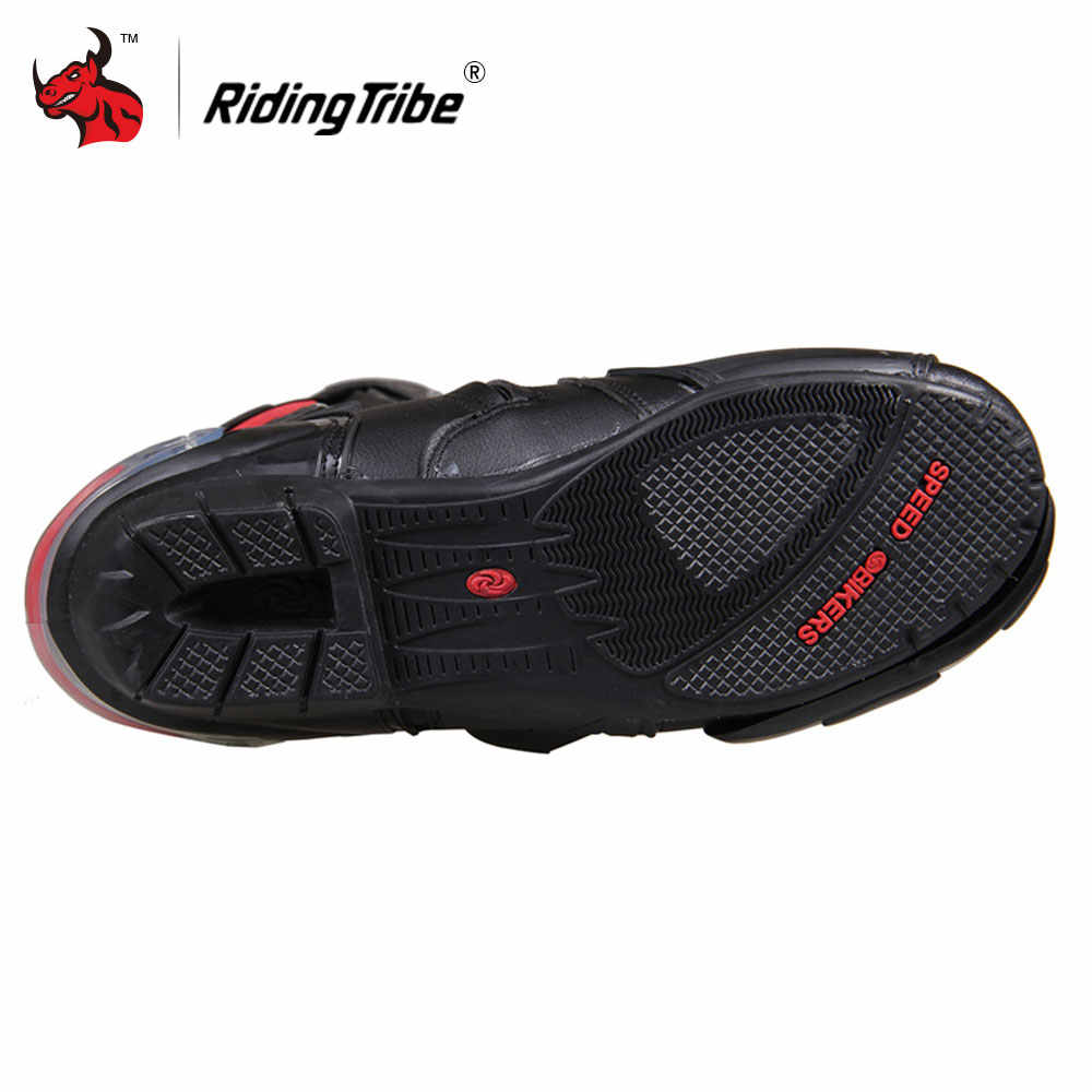 2910bdfb451be2 ... Riding Tribe Motorcycle Boots Men Motocross Off-Road Motorbike Shoes PU  Leather Moto Boots SPEED